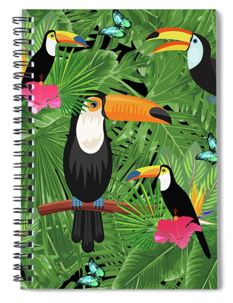 Toucan Tropic  Spiral Notebook