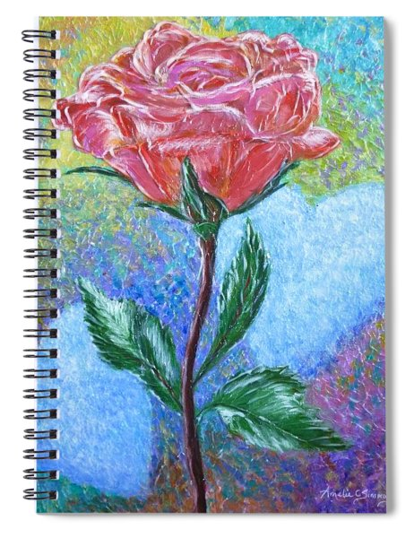 Touched By A Rose Spiral Notebook