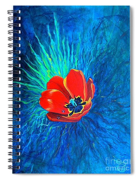 Touched By His Light Spiral Notebook