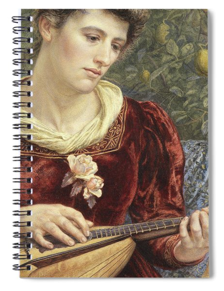 Touching The Strings Spiral Notebook