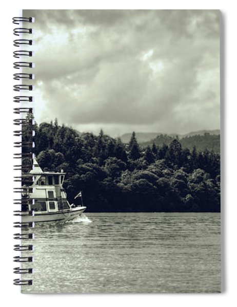 Touring The Lakes In Sepia Spiral Notebook