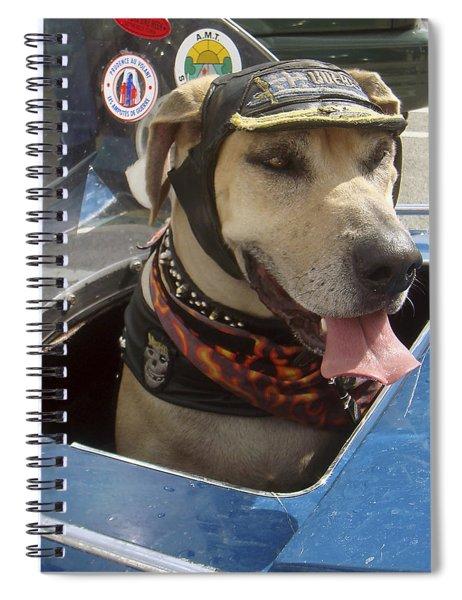 Tourist Dog 2 Square Spiral Notebook by Karen Zuk Rosenblatt
