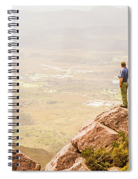Tourist On The Tip Of Western Tasmania Spiral Notebook
