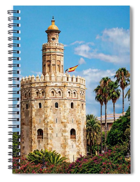 Tower Of Gold Spiral Notebook
