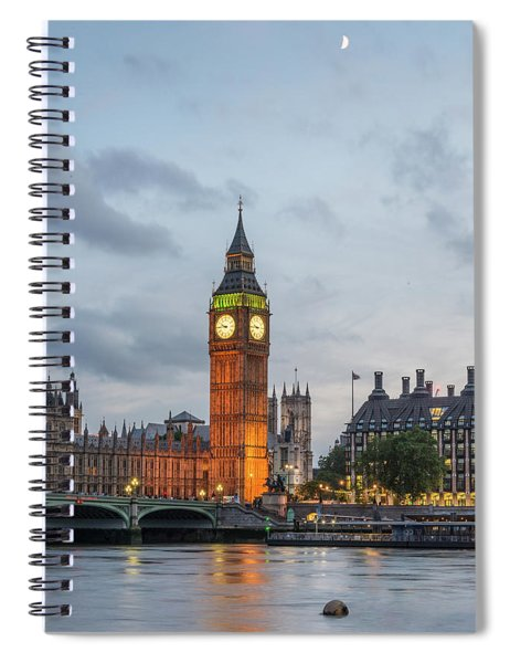Tower Of London In The Moonlight Spiral Notebook