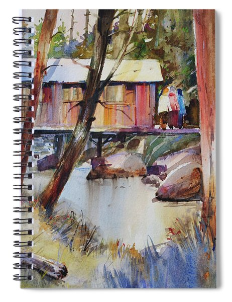 Covered Bridge Over Town Brook Spiral Notebook