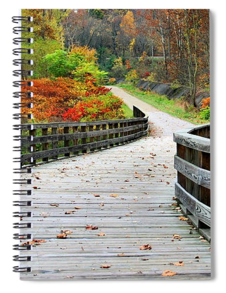 Towpath In Summit County Ohio Spiral Notebook