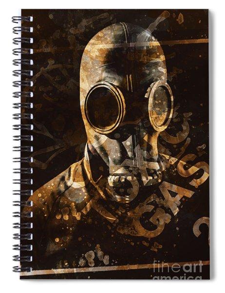 Toxic Gas Chemical Hazard Spiral Notebook