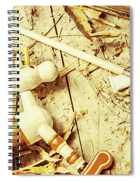 Toy Making At Santas Workshop Spiral Notebook