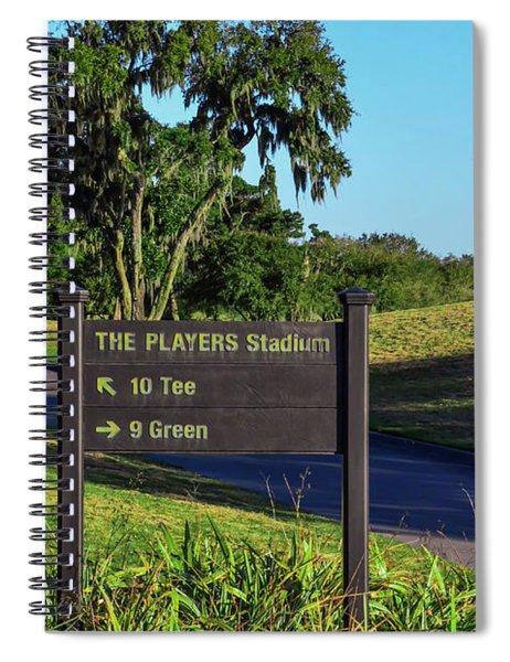 Tpc Sawgrass Sign Spiral Notebook