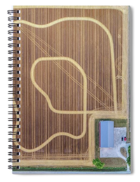 Track In The Field Spiral Notebook
