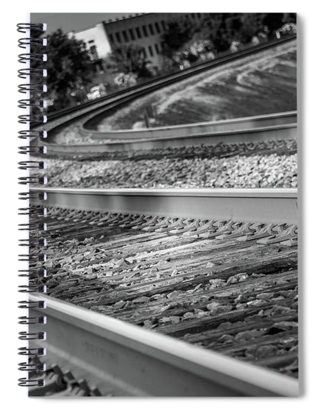 Spiral Notebook featuring the photograph Tracks Through Historic Buford by Doug Camara