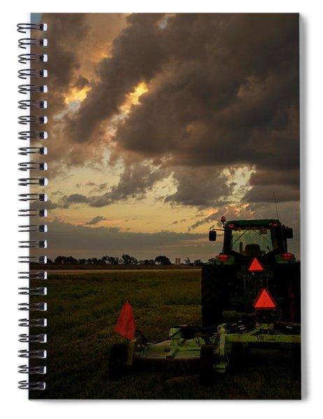Tractor At Sunrise - Chester Nebraska Spiral Notebook