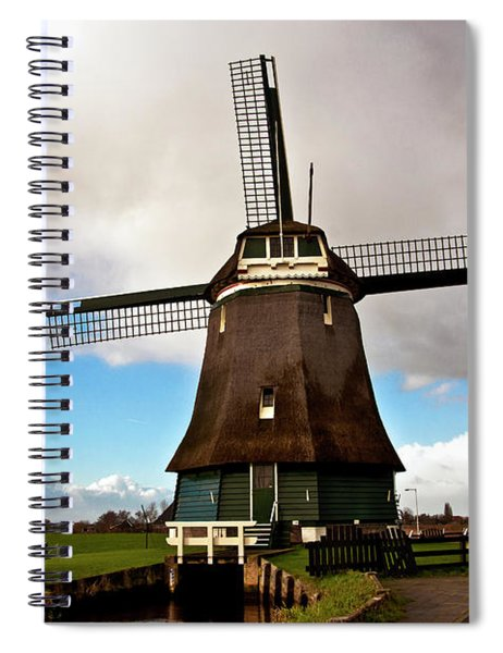 Traditional Dutch Windmill Near Volendam  Spiral Notebook