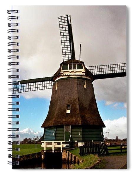 Traditional Dutch Windmill Near Volendam  Spiral Notebook