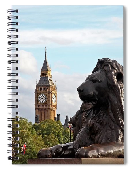 Trafalgar Square Lion With Big Ben Spiral Notebook
