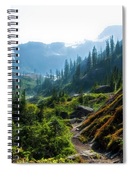 Trail In Mountains Spiral Notebook