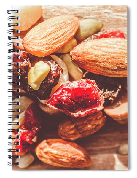 Trail Mix High-energy Snack Food Background Spiral Notebook