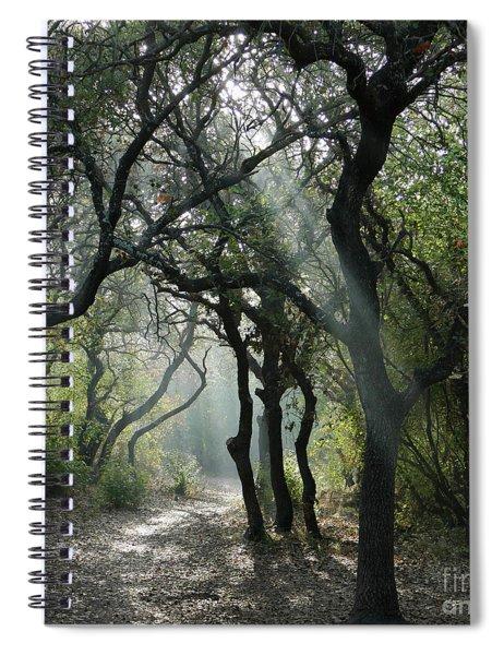 Spiral Notebook featuring the photograph Trail Of Light by Arik Baltinester