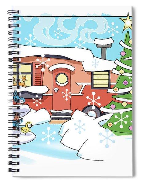 Trailer Park Christmas Spiral Notebook
