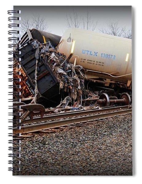 Train Accident  Spiral Notebook
