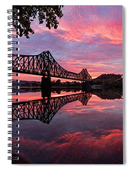 Train Bridge At Sunrise  Spiral Notebook