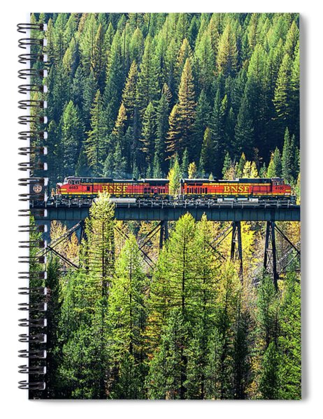 Train Coming Through Spiral Notebook