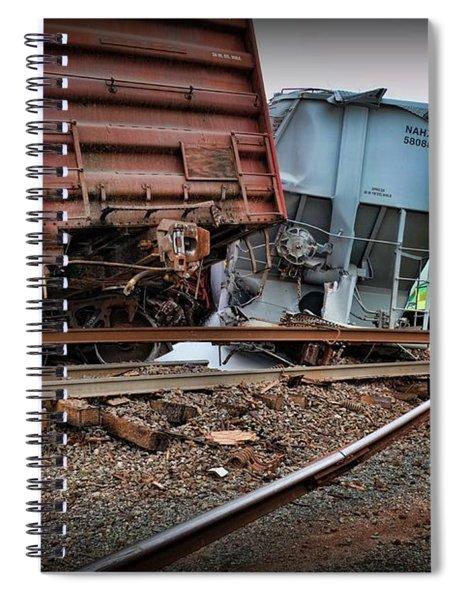 Train Derailed Freight Cars  Spiral Notebook