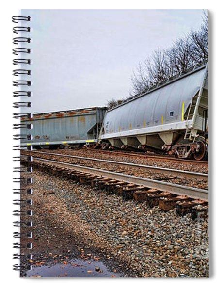Train Derailed  Spiral Notebook