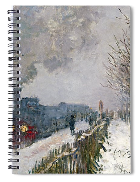 Train In The Snow Or The Locomotive Spiral Notebook