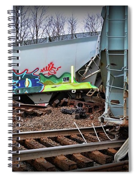 Train Off The Rails  Spiral Notebook