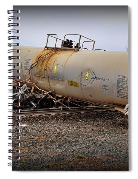 Train Off The Tracks  Spiral Notebook