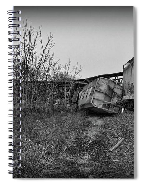 Train - We Lost A Car In Black And White Spiral Notebook