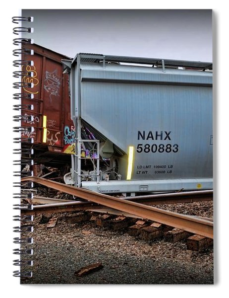 Train Wreckage  Spiral Notebook