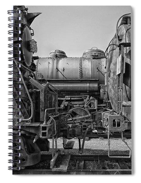 Trains Ancient Iron Bw Spiral Notebook