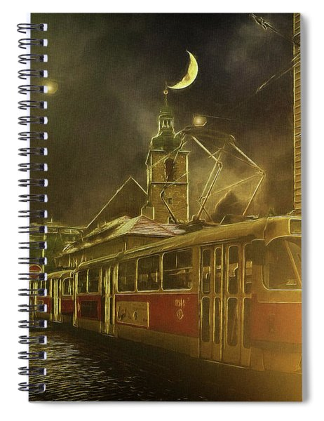 Tramatic - Prague Street Scene Spiral Notebook
