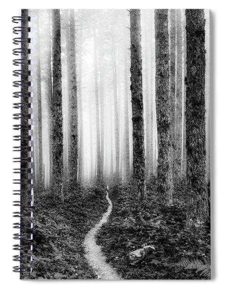 Tranquil Black And White 7 Spiral Notebook