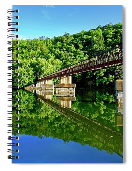 Tranquility At The James River Footbridge Spiral Notebook