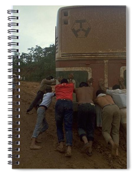 Spiral Notebook featuring the photograph Trans Amazonian Highway, Brazil by Travel Pics