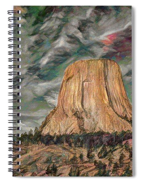 Transcendental Devils Tower Spiral Notebook