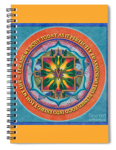 Transformation Mandala Prayer Spiral Notebook