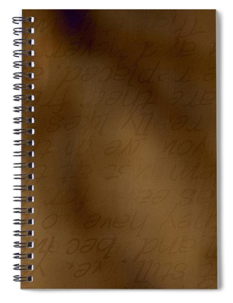 Transparent Words Spiral Notebook