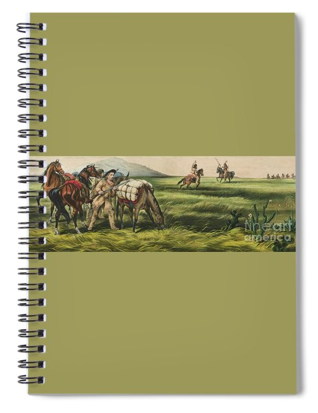 Trappers On The Prairie  Peace Or War Spiral Notebook