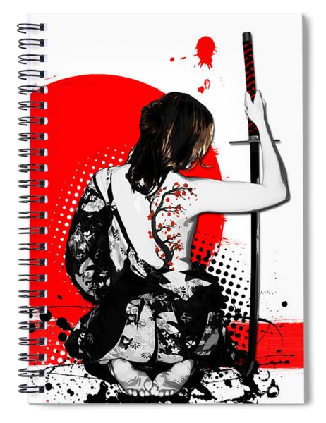 Trash Polka - Female Samurai Spiral Notebook