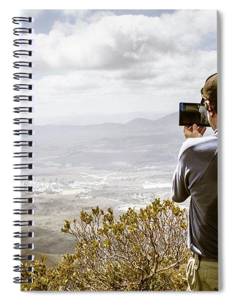 Travel And Technology Man Spiral Notebook