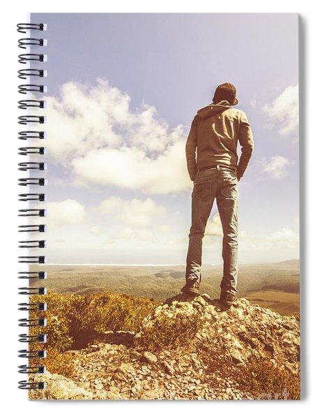 Travel Tourist Trekking West Coast Tasmania Spiral Notebook