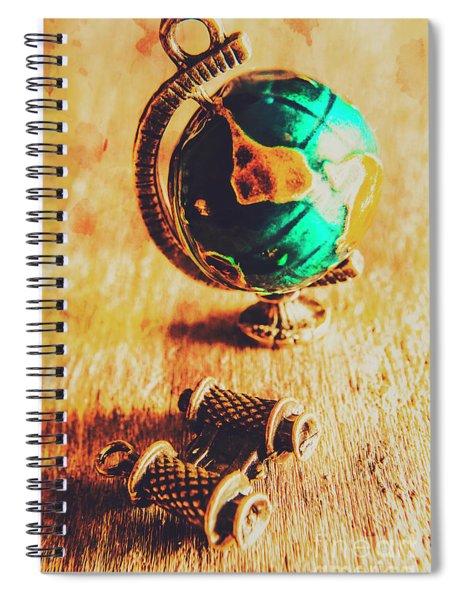 Travellers Globe Spiral Notebook