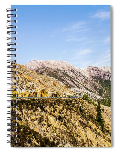 Travelling Rugged Alps Spiral Notebook