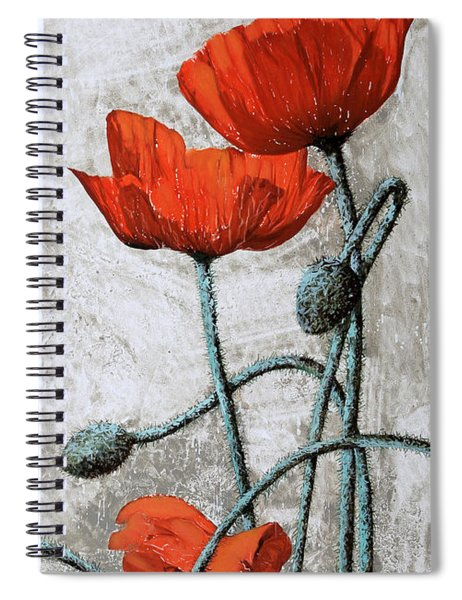 Tre Papaveri Spiral Notebook