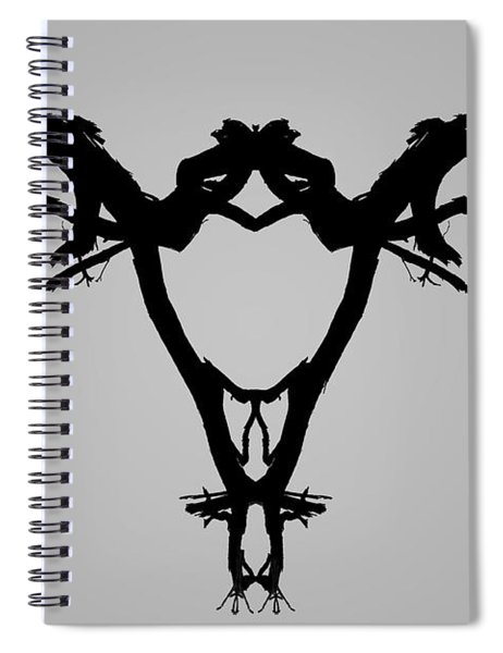 Tree Bird I Bw Spiral Notebook